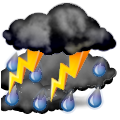 Napoved:  Increasing clouds and cooler. Precipitation possible within 6 hours Windy with possible wind shift to the W, NW, or N.